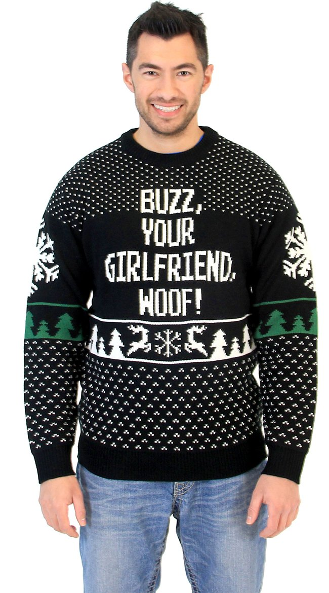 Buzz Your Girlfriend Woof Home Alone Sweater, Ugly Christmas ...
