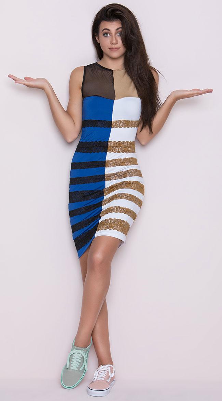 Blue dress illusion xs