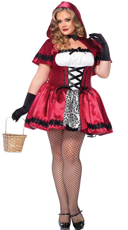 Plus Size Glamorous Red Riding Hood Costume, Plus Size Gothic ...