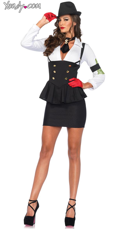 machine gun molly costume sexy gangster costume sexy tux costume - Female Gangster Halloween Costumes