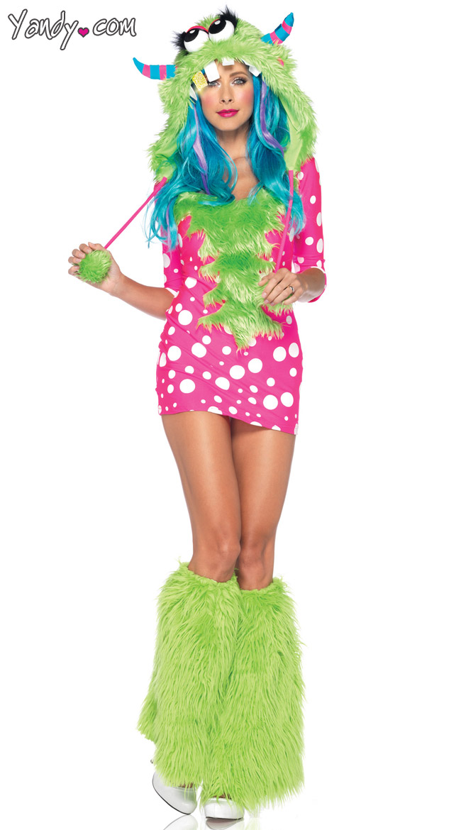 Melody Monster Costume, Pink And White Polka Dot Monster Costume ...