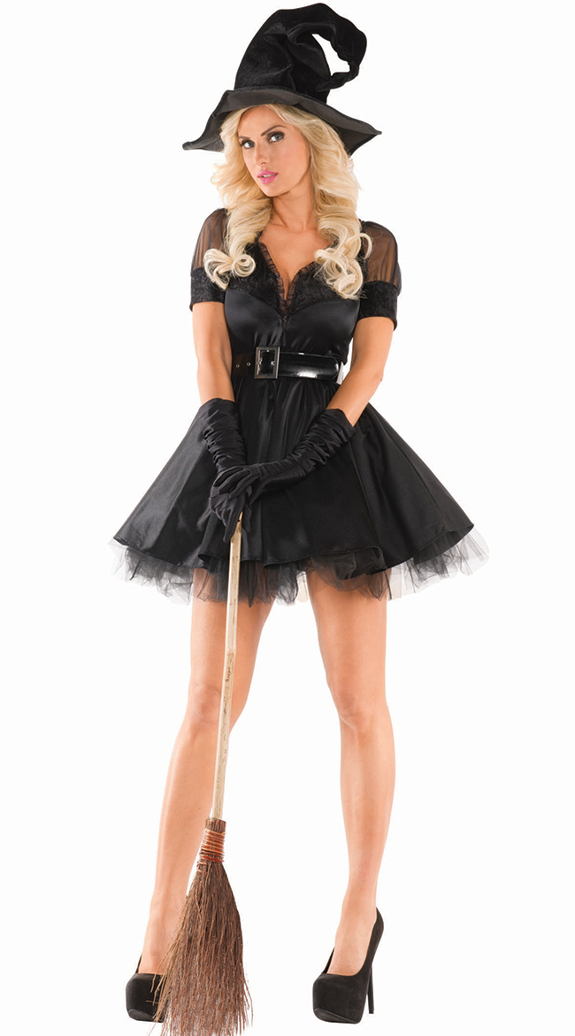 bewitching pinup witch costume short skirt witch costume adult witch costume