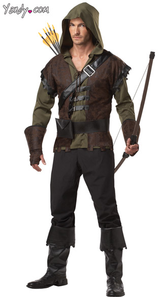 Mens Robin Hood Costume, Male Robin Hood, Prince of Thieves Costume