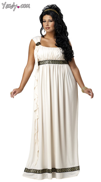 Plus Size Olympic Goddess Costume, Plus Size Sexy Goddess Costume