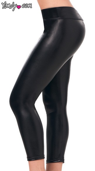 Stretch Metallic Foil Legging