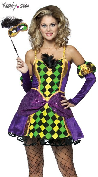 Mardi Gras Queen Costume, Womens Mardi Gras Costume, Fat Tuesday Costume