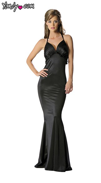 V Back Gown, Gown with Deep V Back, Sexy Dress, Sexy Womens Gown