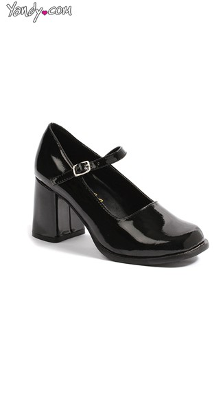 Chunky Heeled Mary Jane Pump, Cheap High Heels, Dress Shoes For Women