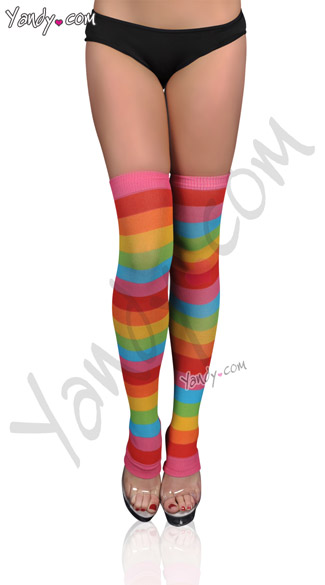 Rainbow Leg Warmers, Knee High Legwarmers, Colorful Legwarmers