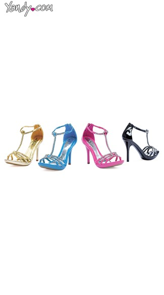 Dancing Queen Rhinestone Sandal, Cute High Heels, Stiletto Heels