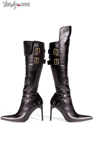 Leather Vixen Pointy Stiletto Boots