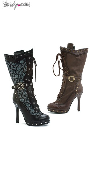 Studded Lace Up Bootie