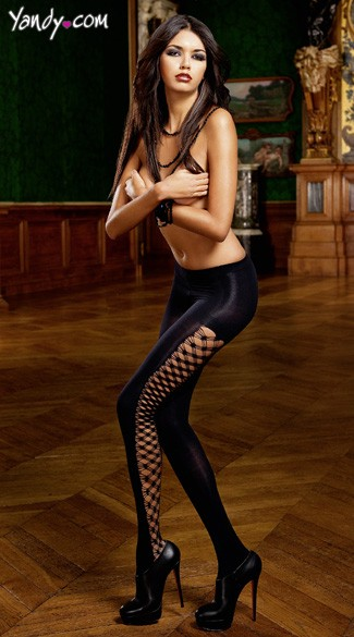 Opaque Diamond Net Pantyhose
