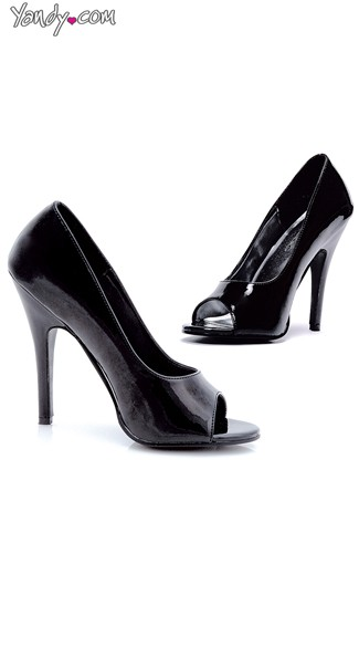 Secret Agent Open Toe Pump