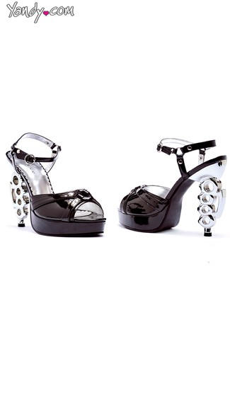 Platform Sandal with Silver Knuckle Ring Heel