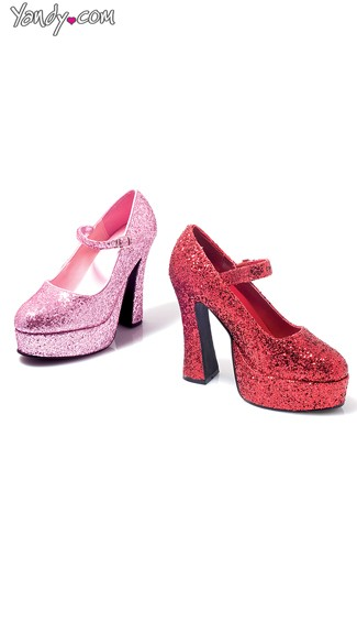 Glitter Girl Mary Jane Pump, Mary Jane Heels, Sparkly Heels