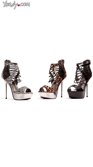 Cage Rage Strappy Stiletto Sandals