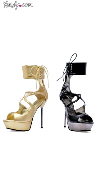 Sexy Diva Cuffed Stiletto Sandal, Strappy Sandals, Dress Shoes for Women