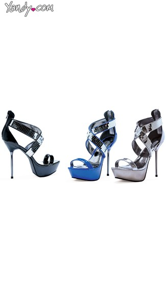 Hot Stuff Metallic Stiletto Sandal, High Heel Sandals, Club Shoes for Women