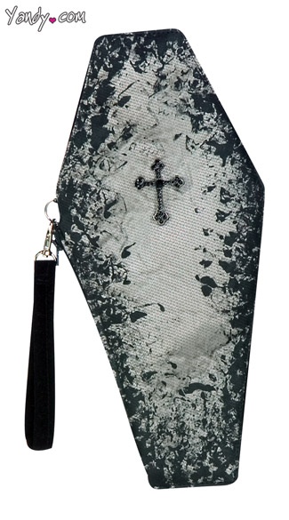 Coffin Clutch, Vampire Coffin Purse, Coffin Shaped Bag