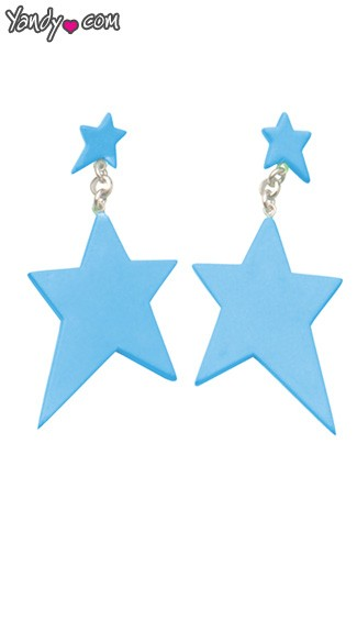 Turquoise Star Earrings, Blue Star Earrings, Blue Earrings