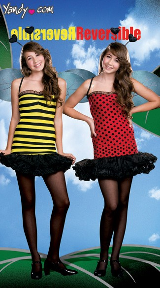 Buggin Out Costume, Dual Bug Costume, Bee/Ladybug Costume, Two-in-One Bumble Bee Lady Bug Costume