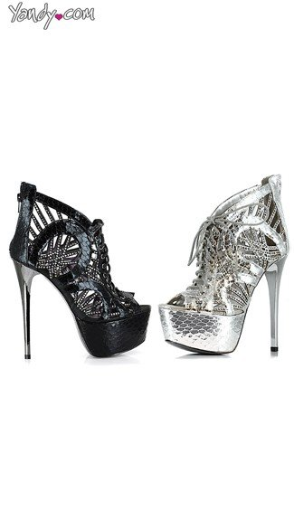 Peep Toe Snake Print Stiletto Bootie, Ladies Footwear, 6 Inch Heels