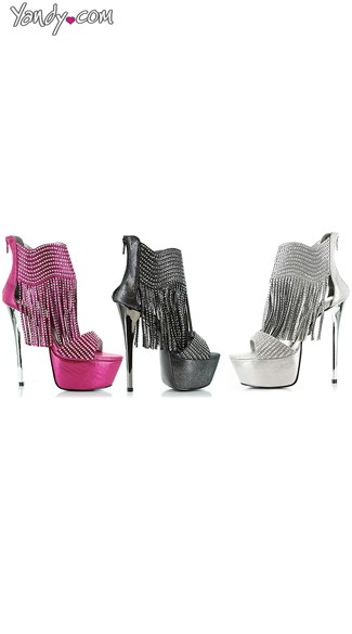 Living Large Rhinestone Fringe Stiletto
