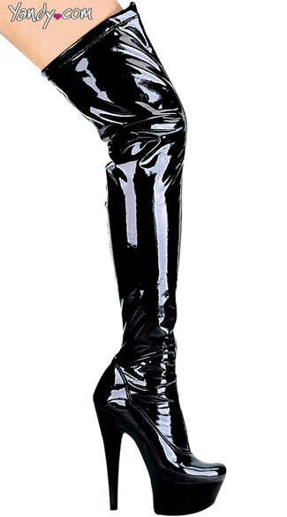 Pointed Stiletto Heel Thigh High Stretch Boots, Stretch Thigh High Boots