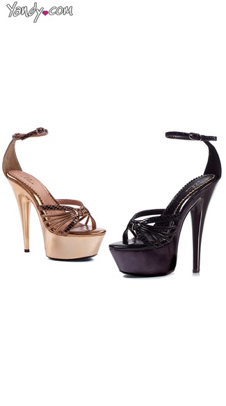 Strappy Platform Sandals with Ankle Strap, Thin Ankle Strap Sandals