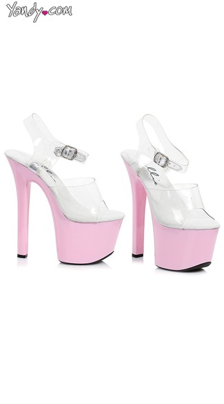 "7"" Heel Clear Bottom Platforms, Extra Tall Platform Shoes"