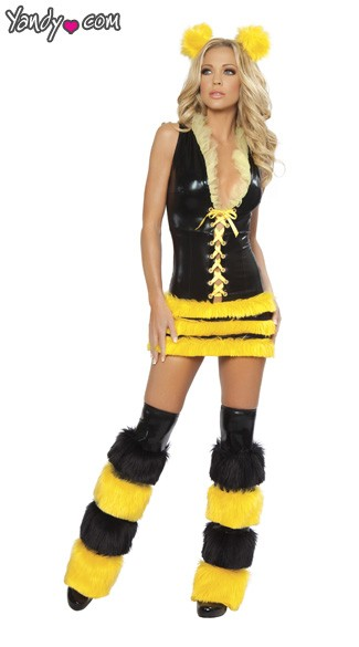 Queen Bee Sexy Costume, Sexy Queen Bee Costume, Queen Bee Halloween Costume, Adult Queen Bee Costume