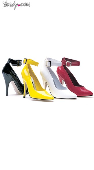 "5"" Heel Pump With Ankle Strap, Ankle Strap Pump"