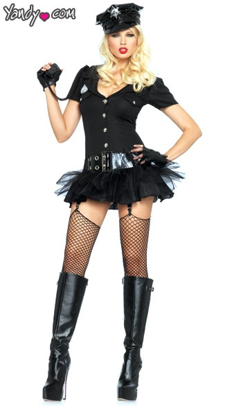 Officer Bombshell Costume, Sexy Officer Costume, Officer Naughty Halloween Costume