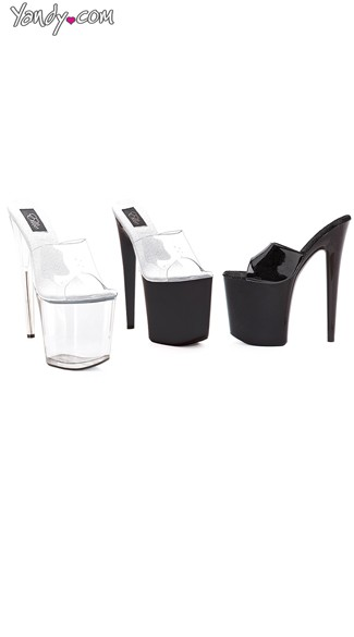 "8"" Heel Platform Sandals, High Platform Shoes"