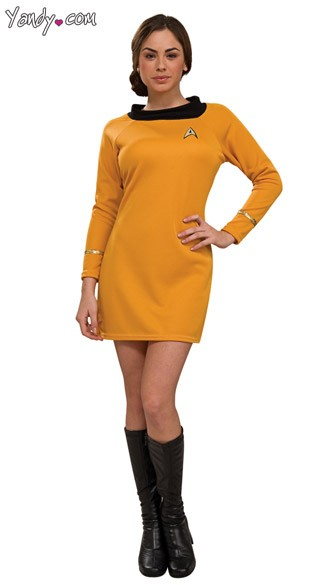 Star Trek Deluxe Commander Costume, Yellow Star Trek Costume