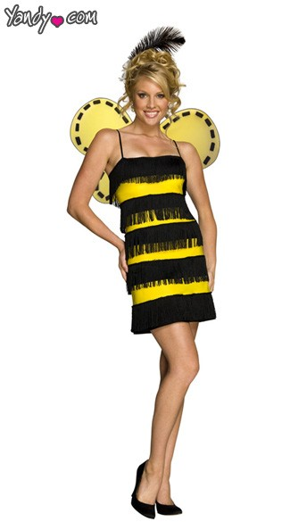 Fringe Bee Costume, Sexy Bee Costume, Adult Bee Costume, Sexy Bee Adult Halloween Costume, Bee Mine