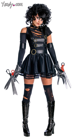 Miss Scissorhands Costume, Sexy Edward Scissorhands Costume, Female Scissorhands