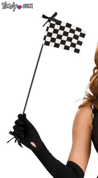 Racer Mini Checkered Flag, Racer Mini Flag, Racer Costume Mini Checkered Flag, Racer Girl Mini Flag
