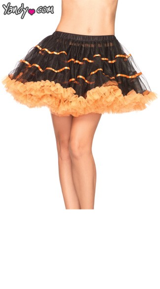 Layered Satin Striped Tulle Petticoat, Costume Petticoat, Layered Satin Stripe Petticoat, Layered Tulle Petticoat