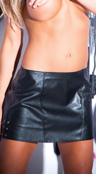 Tempt And Tease Pleather Skirt Pleather Mini Skirt Faux
