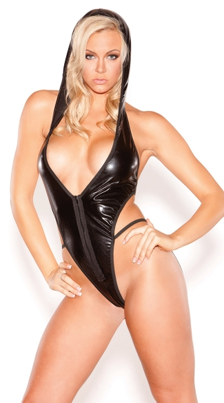 Black Vinyl Hooded Teddy