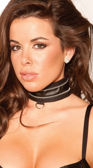 Unzipped Leather Choker