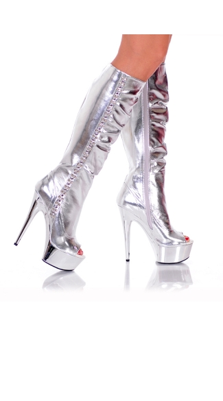 Nasty Girl Peep Toe Knee High Boot
