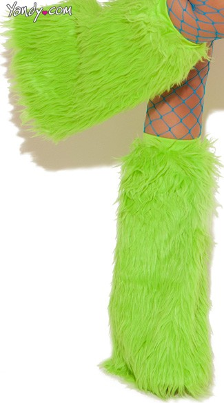 Knee High Fur Boot Covers, Furry Boot Covers, Neon Fur Leg Warmers