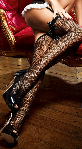 Patterned Net Thigh Highs