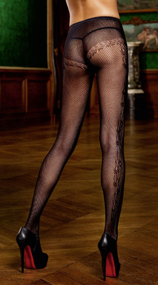 Black Diamond Net Stockings