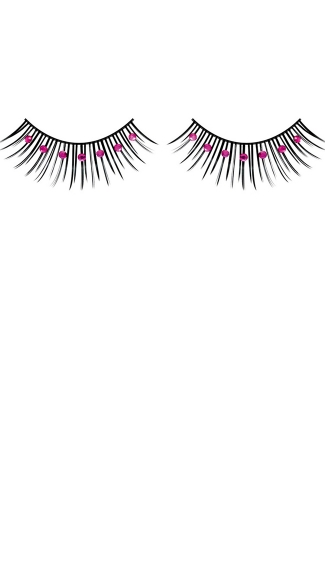 Black and Purple Rhinestone Eyelashes