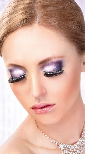 Black and White Rhinestone Eyelashes