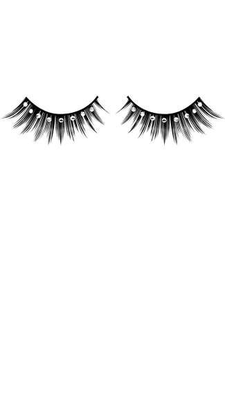 Black and White Rhinestone Fake Eyelashes